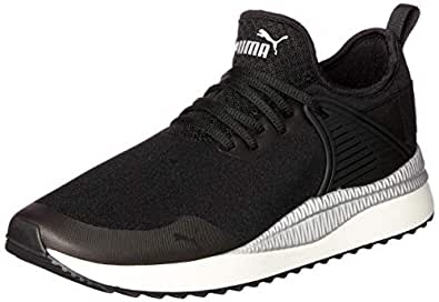 PUMA Women's Pacer Next Cage St2 Blk-blk-wh Shoes, Puma Black-puma Black-Whisper, 5.5 US
