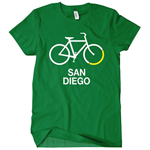 Smash Transit Women's Bike San Diego T-Shirt - Kelly Green, Large