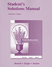 Student's Solutions Manual for Finite Mathematics for Business, Economics, Life Sciences and Social Sciences (Paperback)