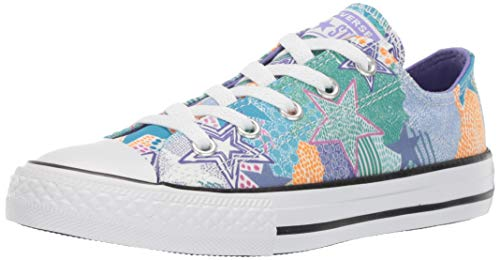 Converse Girls Kids' Chuck Taylor All Star Street Mosaic Low Top Sneaker White/Wild Lilac/Black 12 M US Little]()