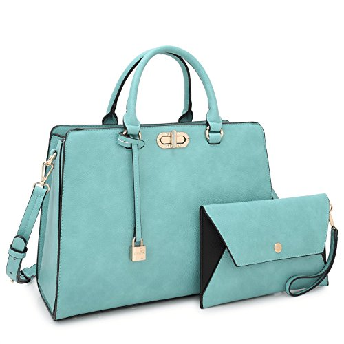 (Satchel Handbags for Women Stylish Purse Shoulder Bag with Matching Wirstlet)