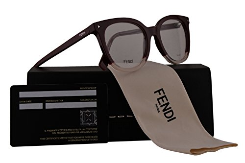 Fendi FF0235 Eyeglasses 51-19-140 Burgundy w/Demo Clear Lens LHF FF - Spectacle Fendi Frames