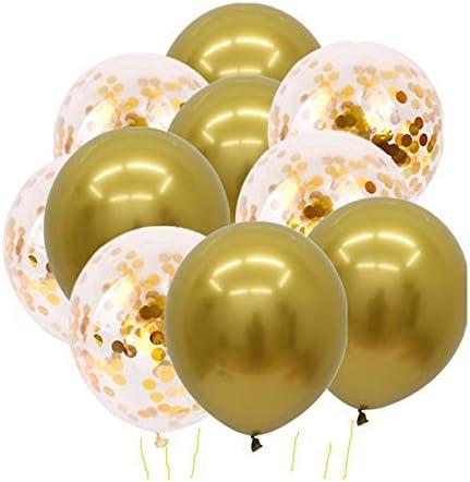 Skingwa コンフェッティ バルーン グリッター バルーン ラテックス バルーン 誕生日 結婚 デコレーション用 10ピース (#8)