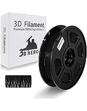 TPU Filament - 3D Printer Filament TPU Black Fexible Filament 0.5kg(1.1lbs) Spool, Dimensional Accuracy +/- 0.02 mm, Stable Diameter,Hardness 95A
