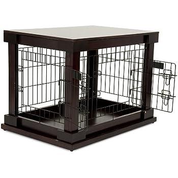 Amazon Com Petmate 21830 Indoor Wooden Wire Pet Kennel