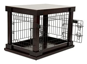 Amazon.com : Petmate 21830 Indoor Wooden Wire Pet Kennel, 30-Inch ...