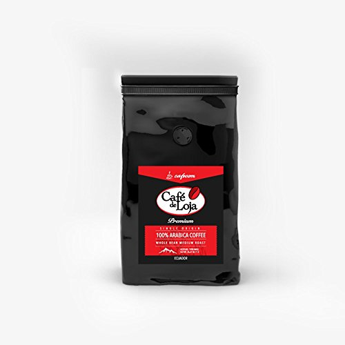 Café de Loja Gourmet TESTER BAG Whole Bean Coffee - Medium / Dark Roast Arabica Best for French Press and Espresso (3.5 Ounces) Fresh 100% Single Origin Washed Arabica