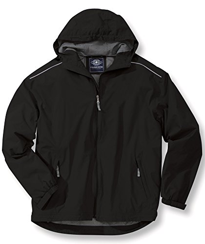 Charles River Apparel Men's Nor'easter Waterproof Rain Jacket, Black M