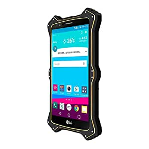 LG G4 Heavy Duty Case, VEGO Aluminum Alloy Metal Shockproof Dustproof Weatherproof Limited Waterproof Case Military Heavy Protection Hard Cover for LG G4 - Black