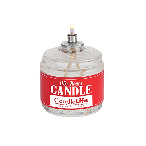 CandleLife Emergency Survival Candle - 115 Hours Long Lasting Burning Time - Great Source of Light for Blackout, Camping, Fishing and Hunting - Smoke & Odor-Free | Clear Mist