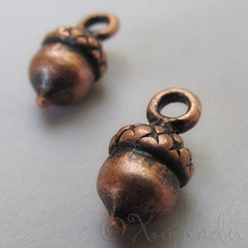 OutletBestSelling Pendants Beads Bracelet Acorn Charms Wholesale Antiqued Copper Autumn Pendants 20pcs