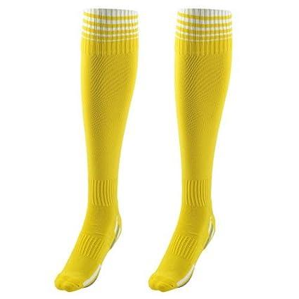 eDealMax Unisex, Nylon, Anti Slip patrón a Rayas, elástico Fútbol Fútbol Deporte calcetines