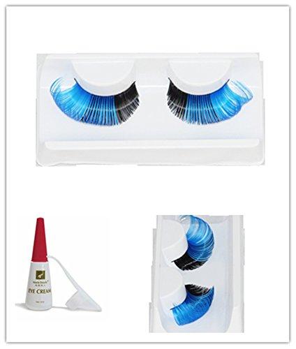 Multi colored Eyelashes Christmas Halloween Adhesive product image
