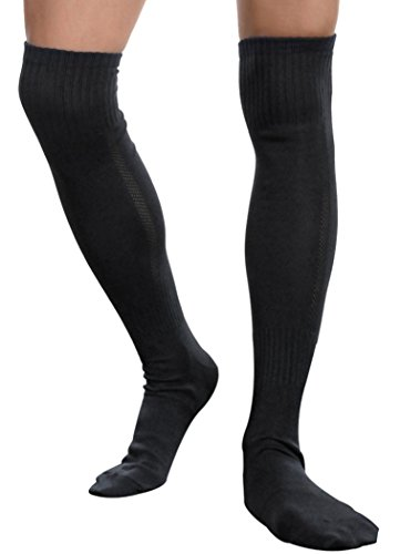 Long Stockings Men Socks Sports Football Socks Over the Knee Socks,Medium,Black