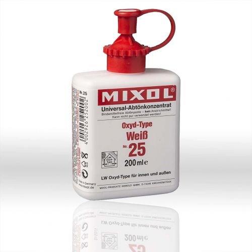 Mixol 200 ml Nr. 25 Oxyd-Weiß LW-Oxyd-Type Universal Abtönfarbe Konzentrat