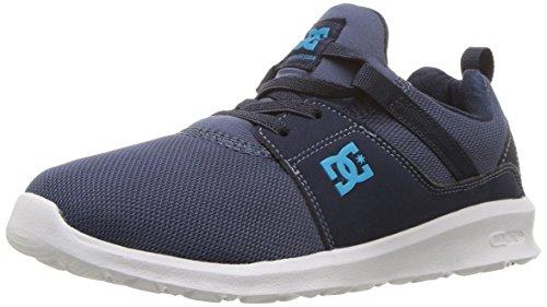 (DC Boys' Heathrow Skate Shoe, Blue, 5 M US Big Kid)