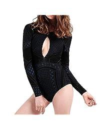 Amzeca Swimsuits for Women Sunscreen Surfing Suit Push-Up Padded Waterproof Bikini Set
