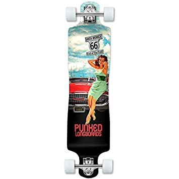 Yocaher Punked Route 66 Series RTE 66 Longboard Complete Skateboard or Deck Only – Available in All Shapes