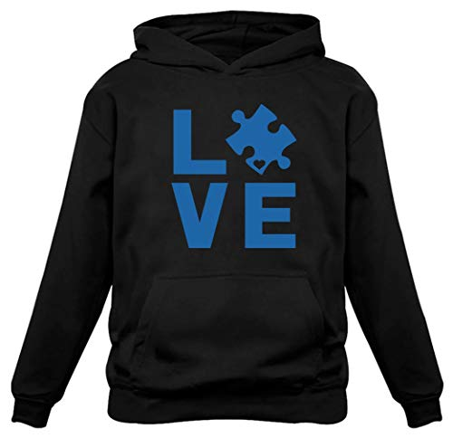 (Tstars - Autism Awareness Month - I Love Someone with Autism Women Hoodie Medium)