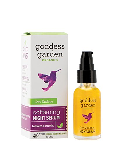 Goddess Garden - Day Undone Softening Night Serum - Sensitive Skin, Certified Organic, Vegan, Leaping Bunny Certified Cruelty-Free, Paraben-Free, Certified B Corp - 1 oz Bottle