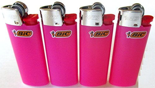 Bic Mini Hot Pink Lighters Lot of 4