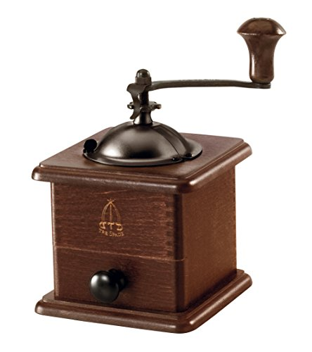 Paderno World Cuisine A4982344 Beechwood Manual Coffee Grinder, Brown