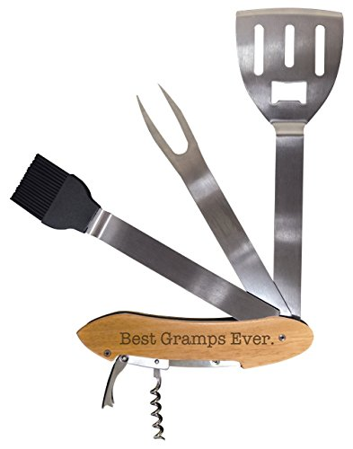 Barbecue Grill Gift Best Gramps Ever BBQ Grill Multi Tool Barbecue Spatula Grilling Accessories (Long Island Gift Baskets)