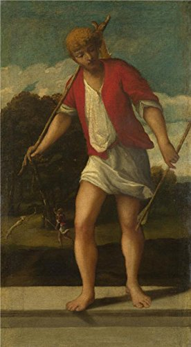 High Quality Polyster Canvas ,the Beautiful Art Decorative Canvas Prints Of Oil Painting 'Studio Of Bonifazio Di Pitati-A Huntsman,16th Century', 20x36 Inch / 51x92 Cm Is Best For Living Room Gallery Art And Home Artwork And (2)