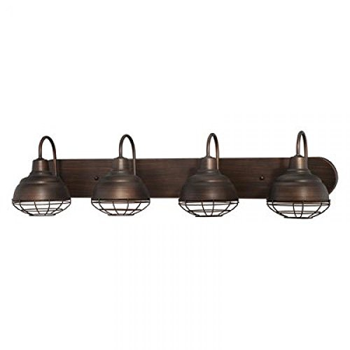 Millennium 5424-RBZ Four Light Vanity, Bronze Dark