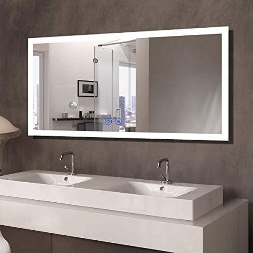 Baltimore Illuminated Led bathroom mirrorBluetoothTouchClockWeather