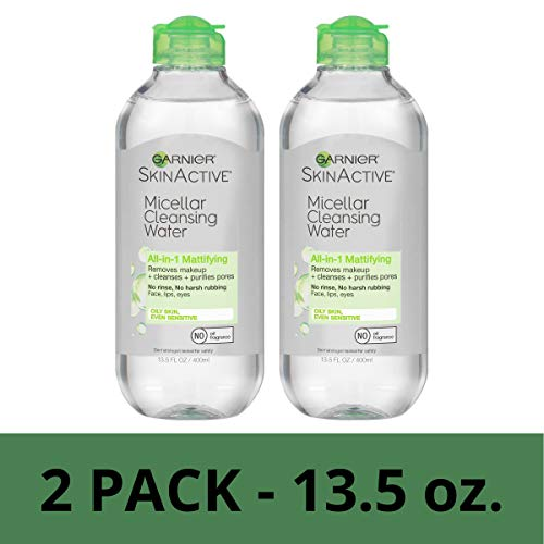Garnier SkinActive Micellar Cleansing Water for Oily Skin, 13.5 Ounce (Pack of 2)