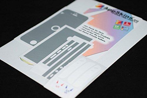AppSkins Folien-Set iPhone 5/5s/ SE Carbon silver/white