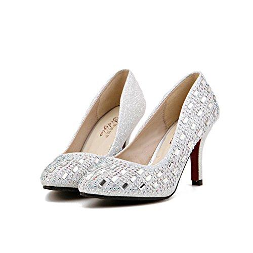 Xue Qiqi Hochhackige Schuhe mit hohen Absätzen_feine Spitze Spitze Spitze im Licht der high-heel Schuhe Nachtclub rot c489cd