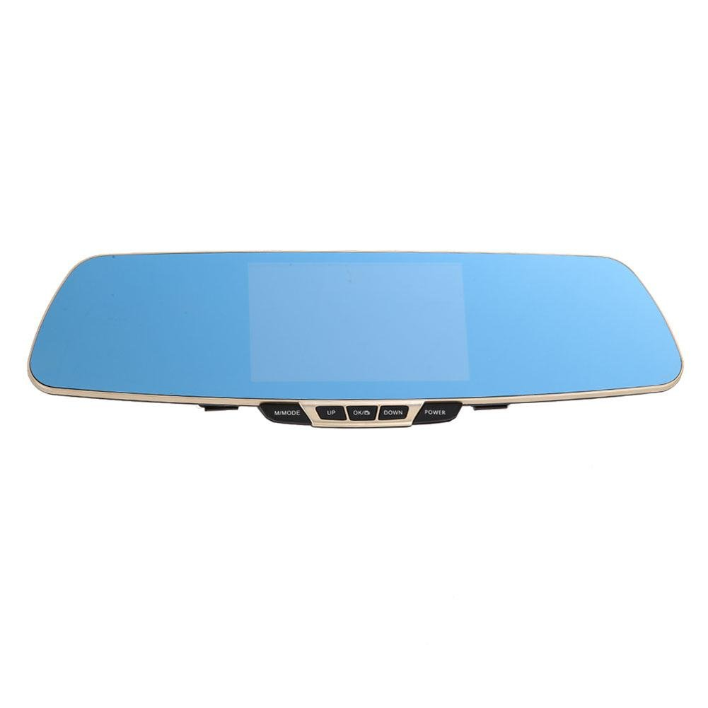 MKChung K550 5.0in Car Rearview Mirror DVR Camera Dual Lens Night Vision Dash Cam by MKChung
