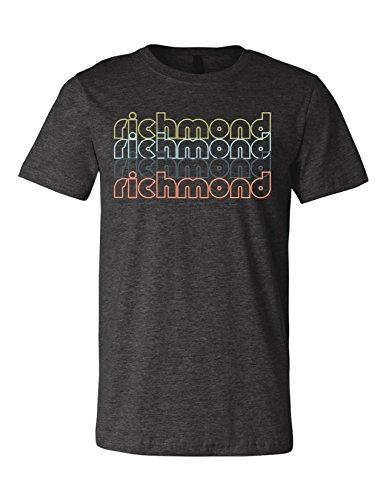 Richmond Virginia Retro 3001 Premium Crewneck T-Shirt Slogan Humorous Dark Gray Heather Medium (3001 Ram)
