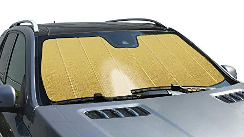 Intro-Tech Automotive AM-02-RG Gold Ultimate Reflector Custom Fit Folding Windshield Sunshade for Select Aston Martin V8/V12 Vantage Models