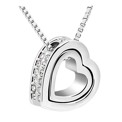 - LuxuryLady The New Sexy Pendant Heart Simple Fashion Austrial Crystal Female Gift Necklace