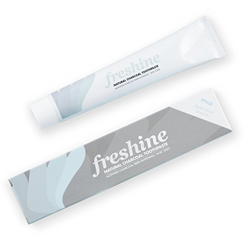 Activated Charcoal Teeth Whitening Toothpaste: Natural Mint SLS & Fluoride Free Dental & Oral Care Whitener Kit - Eliminates Halitosis Bad Breath and Whitens Stained Enamel Better Than Strips ()