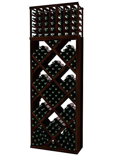 Designer Series Wine Rack - Diamond Bin with Front Trim - 8 Ft - Allheart Redwood Dark Walnut Stain - No ()