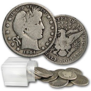 Barber Half Dollars 1892-1915 (20 Coin Roll) - Average Circulated by Great American Coin Company