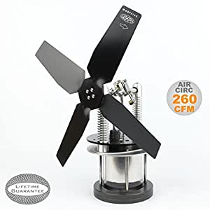 Amazon Com Heat Powered Stove Top Fan For Wood Multi Fuel