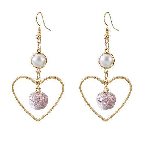 Fashion Heart Pearl Earrings Gift For Women Girls and Teens