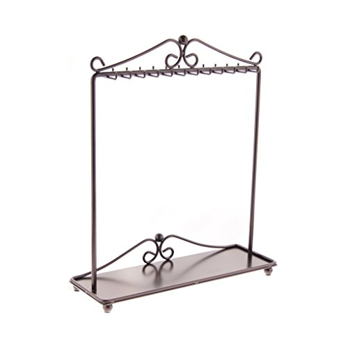 Angelynn's Necklace Holder Organizer Jewelry Tree Stand Storage Rack, Calla Rubbed Bronze by Angelynn's (Image #2)