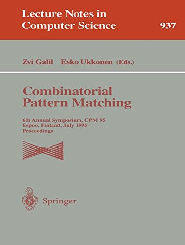 Combinatorial Pattern Matching: 6th Annual Symposium, CPM 95, Espoo, Finland, July 5 - 7, 1995. Proceedings (Lecture Notes in Computer Science)