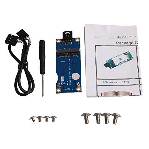 BQLZR 8x3.2cm Mini PCI-E to USB Adapter Converter Flat Interface with SIM Card Slot for WWAN/LTE/3G/4G/CDMA/GPRS by BQLZR
