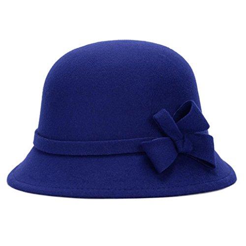 Bluelans Women Winter Hats For Women 1920s Vintage Fedora Bowler Bucket Hat Packable - Vintage Fedora