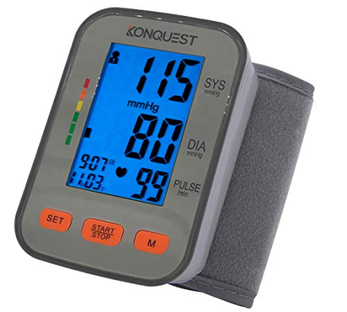 Amazon.com: Konquest KBP-2910W Automatic Wrist Arm Blood Pressure Monitor - Accurate, FDA Approved - Adjustable Cuff, Large Screen Display, Portable Case ...