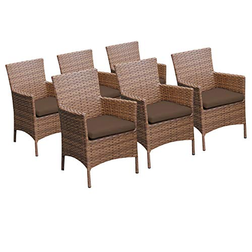 TK Classics 6 Laguna Dining Chairs with Arms ()