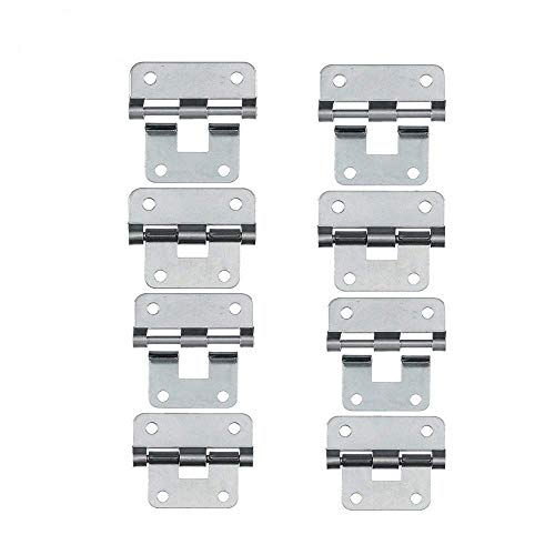 Take-Apart/Lift Off Hinge Door Hinges - Set of 8, Silver