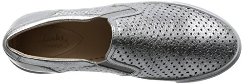 Silver Clarks Slipper Glove Damen Leather Puppet Silber 0xv6Zq8w